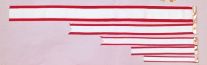 紅白ペナントリボンの画像